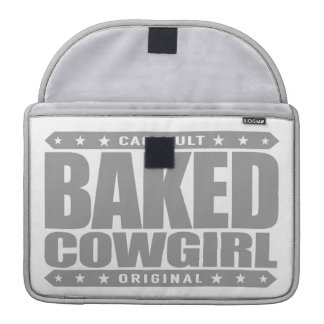 BAKED COWGIRL - Brownie Loving Country Gal, Silver MacBook Pro Sleeve