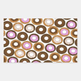Baked Doughnuts Pattern Rectangular Sticker