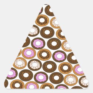 Baked Doughnuts Pattern Triangle Sticker