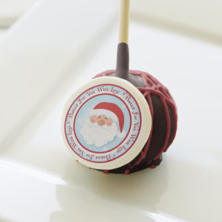 Baked For You With Love Santa Christmas Cake Pops