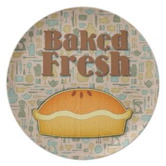 Baked Fresh Pie Melamine Plate