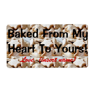 """""""Baked from my heart to yours"""" - Cookie Gift Label"""