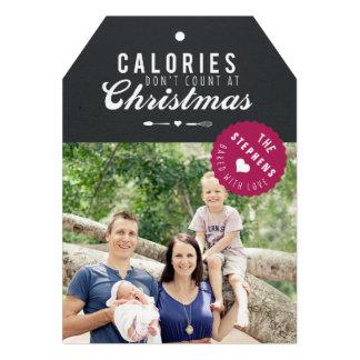 Baked gift Christmas Photo Card gift tag