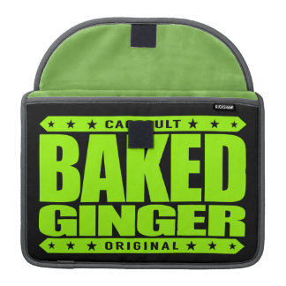 BAKED GINGER - I Am Red-Haired Pale Green Warrior Sleeve For MacBook Pro