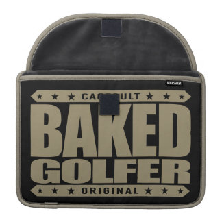 BAKED GOLFER - Smoking World-Class Expert Swinger Sleeve For MacBooks