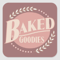 Baked Goodies - Baker Baking Bakery Stickers