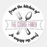 Baked Goodies Label Classic Round Sticker