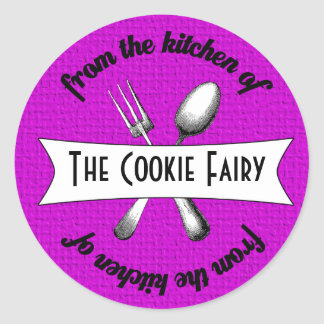Baked Goodies Package Seal Classic Round Sticker