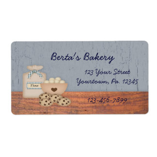 Baked Goods Label