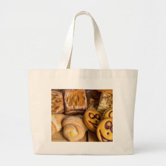 Baked goods large tote bag