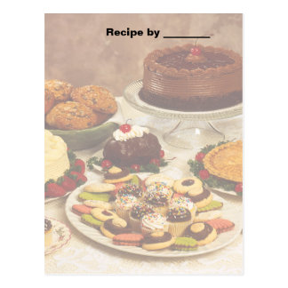 Baked Goods Recipe Blank Card Post Card