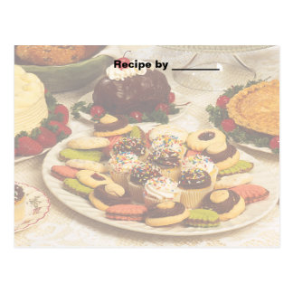Baked Goods Recipe Blank Card Postcards
