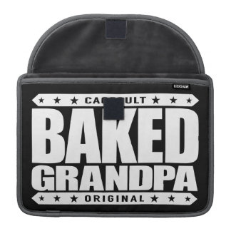 BAKED GRANDPA - Pain-Free, Relaxed Cookie Monster MacBook Pro Sleeve