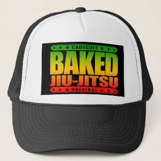 BAKED JIU-JITSU - I Love BJJ & Grappling Training Trucker Hat