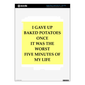 BAKED jpg Decal For iPad 3