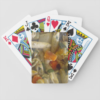 Baked pasta with vegetables bicycle playing cards