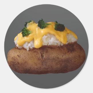Baked Potato Classic Round Sticker