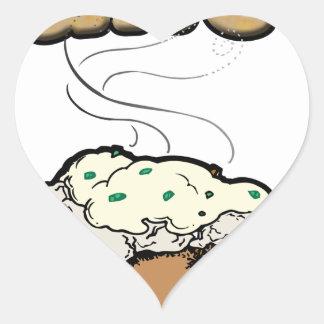 Baked Potato (e) Heart Sticker
