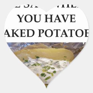 BAKED POTATO HEART STICKER