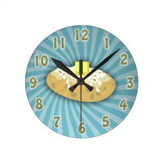 Baked Potato Round Clock