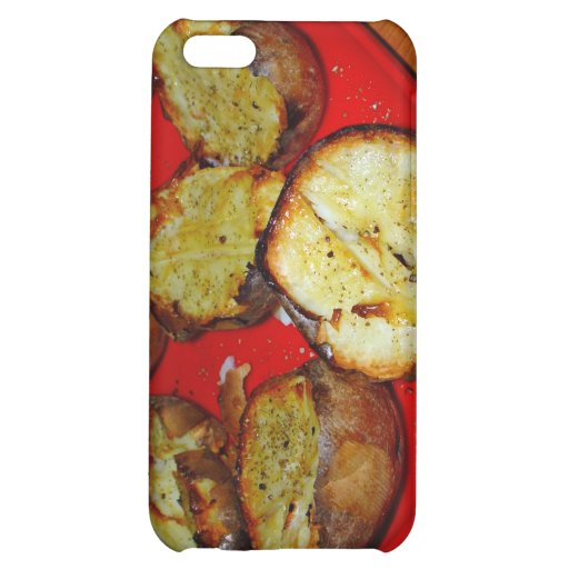 Baked Potatoes on red plastic plate iPhone 5C Case