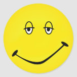 Baked Smiley Classic Round Sticker