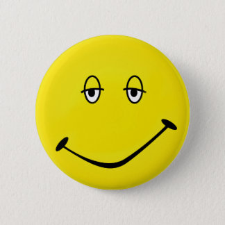 Baked Smiley Pinback Button