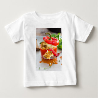 Baked stuffed peppers with meat sauce and cheese baby T-Shirt