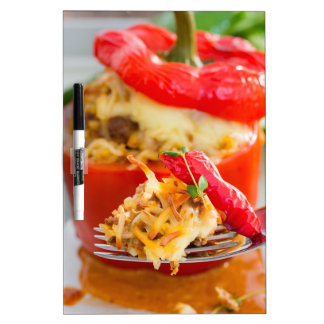 Baked stuffed peppers with meat sauce and cheese Dry-Erase board