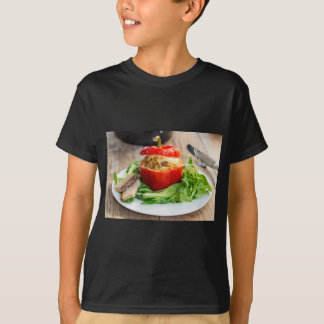 Baked stuffed peppers with meat sauce and cheese T-Shirt