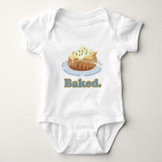 BAKED text baked potato Baby Bodysuit