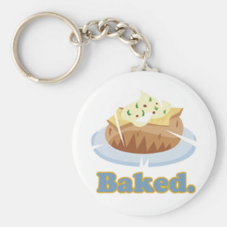 BAKED text baked potato Keychain