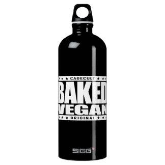 BAKED VEGAN - Natural Green Plant Based Lifestyle Aluminum Water Bottle