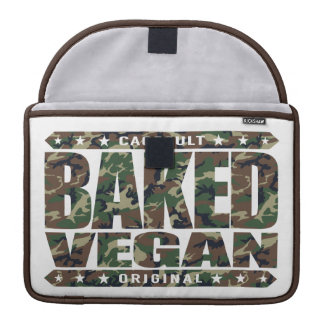 BAKED VEGAN - Natural Green Plant Based Lifestyle MacBook Pro Sleeve