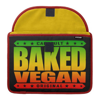 BAKED VEGAN - Natural Green Plant Based Lifestyle Sleeve For MacBooks