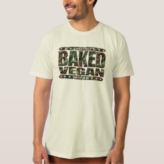 BAKED VEGAN - Natural Green Plant Based Lifestyle T-shirt