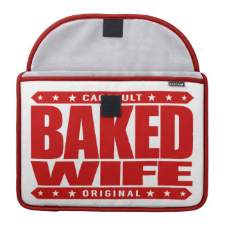 BAKED WIFE - Brownie-Baker Domestic High-Goddess Sleeve For MacBooks