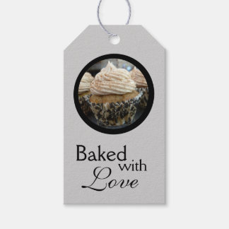 Baked with Love (Black and Grey) Gift Tags