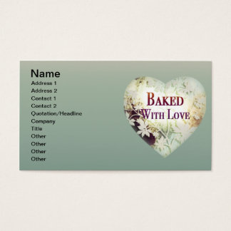 Baked with Love Business Cards (naturals)