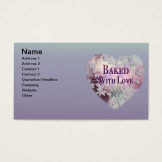 Baked with Love Business Cards (pinks)