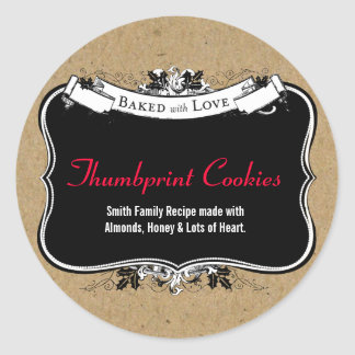 Baked With Love Holiday Cookie Gift Label