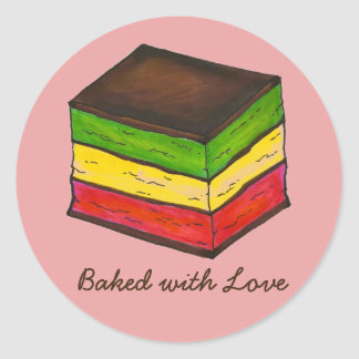 Baked with Love Italian Rainbow Cookie Stickers