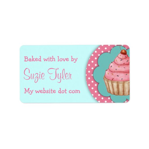 Baked with love - labels custom address label