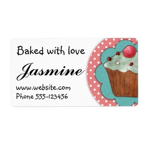 Baked with love - labels