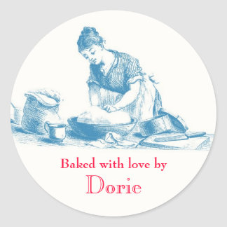 Baked with Love Stickers