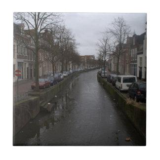 Bakenessergracht, Haarlem Azulejo Cuadrado Pequeño