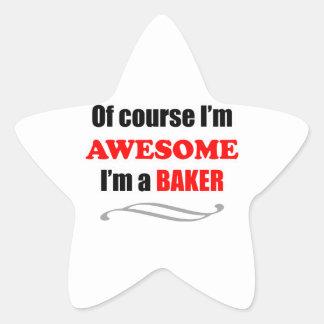 Baker Awesome Family Star Sticker