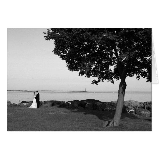Baker B&W Wedding photo Card