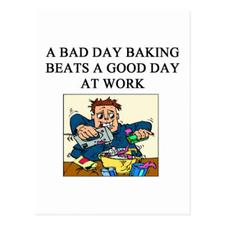 baker baking design postcard