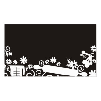 Baker baking pastry chef utensils black business c Double-Sided standard business cards (Pack of 100)